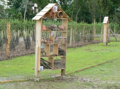 hôtel à insectes du Jardin des insectes